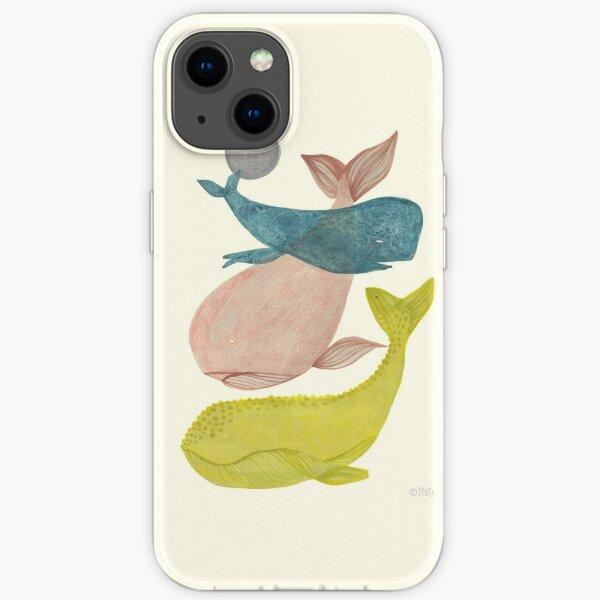 it's raining whales II iPhone Soft Case