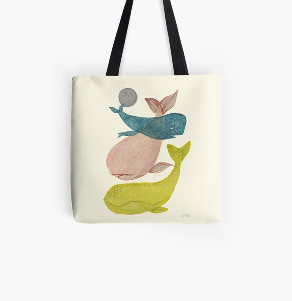 it's raining whales II All Over Print Tote Bag