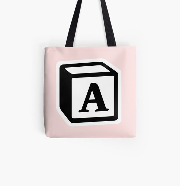 """Letter """"A"""" Block Personalised Monogram All Over Print Tote Bag"""