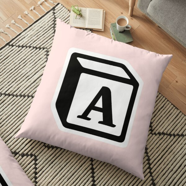 "Letter ""A"" Block Personalised Monogram Floor Pillow"