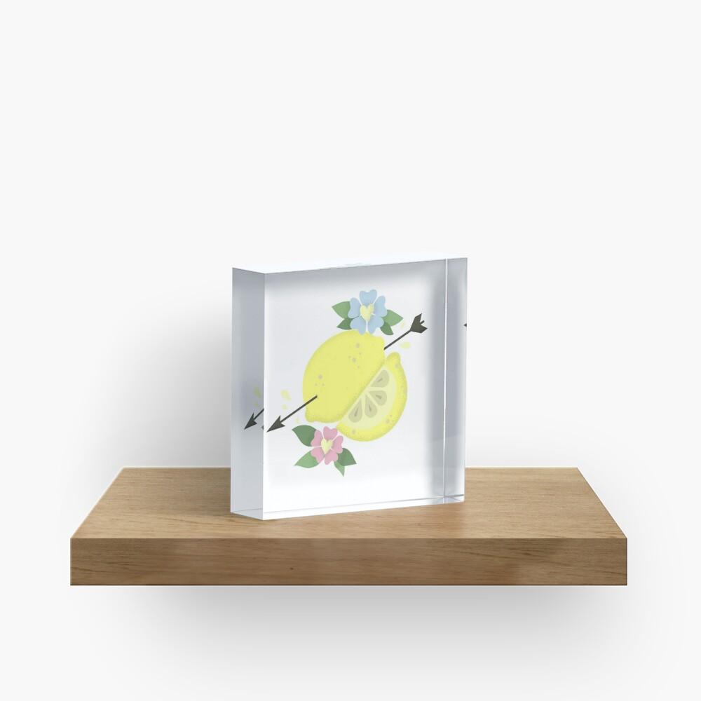 LEMON LOVE Acrylic Block