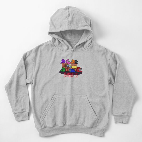 Among us, red Kids Pullover Hoodie