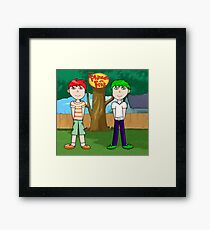 Phineas and Ferb! Framed Print