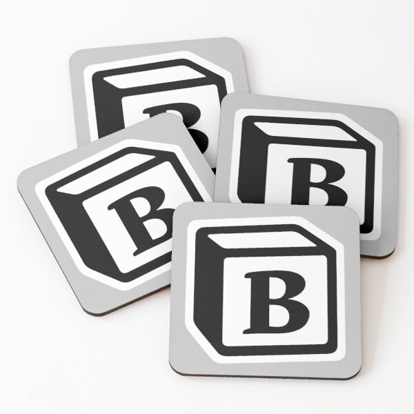 "Letter ""B"" Block Personalised Monogram Coasters (Set of 4)"