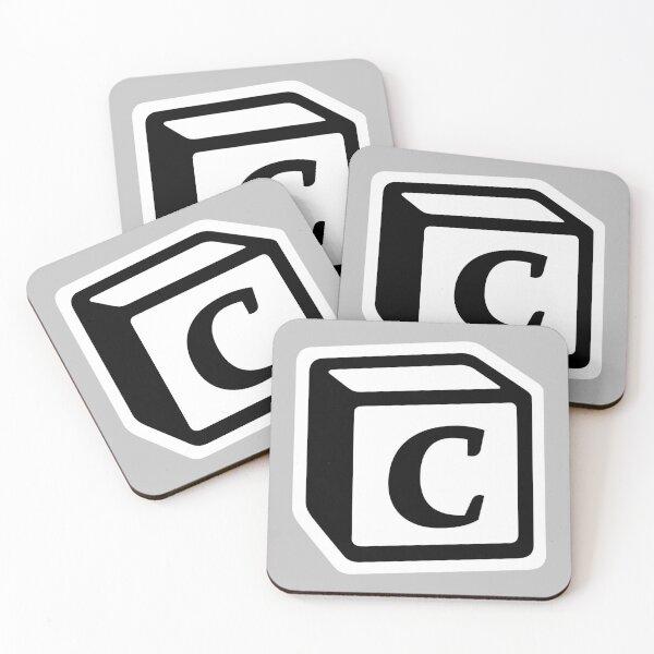 "Letter ""C"" Block Personalised Monogram Coasters (Set of 4)"