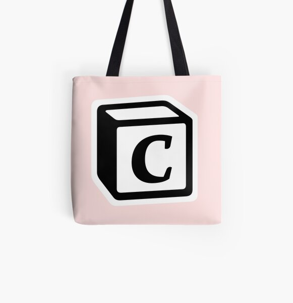 "Letter ""C"" Block Personalised Monogram All Over Print Tote Bag"