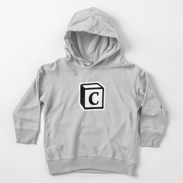 "Letter ""C"" Block Personalised Monogram Toddler Pullover Hoodie"