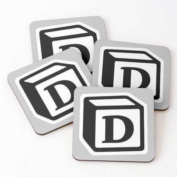 "Letter ""D"" Block Personalised Monogram Coasters (Set of 4)"