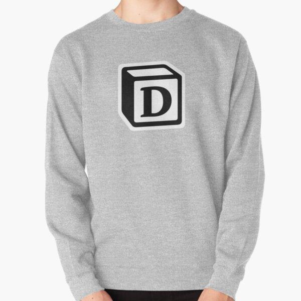 "Letter ""D"" Block Personalised Monogram Pullover Sweatshirt"