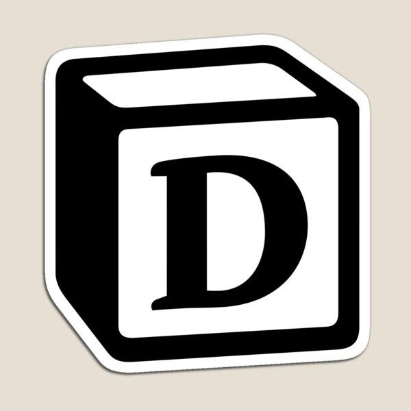 "Letter ""D"" Block Personalised Monogram Magnet"