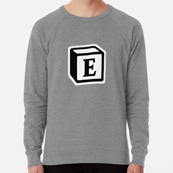 "Letter ""E"" Block Personalised Monogram Lightweight Sweatshirt"