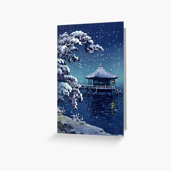 Tsuchiya Koitsu - Snow at the Ukimido, Katada Greeting Card