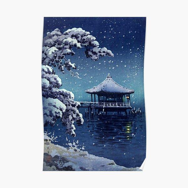 Tsuchiya Koitsu - Snow at the Ukimido, Katada Poster
