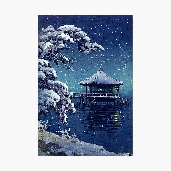 Tsuchiya Koitsu - Snow at the Ukimido, Katada Fotodruck