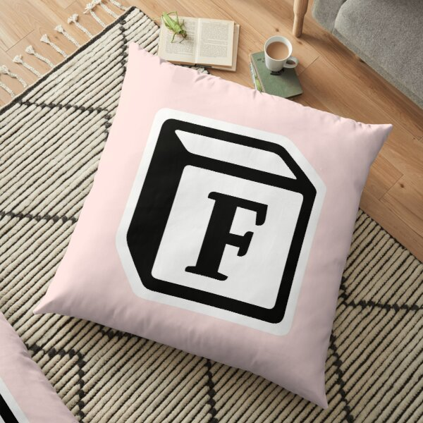 "Letter ""F"" Block Personalised Monogram Floor Pillow"