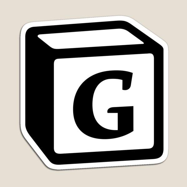 "Letter ""G"" Block Personalised Monogram Magnet"