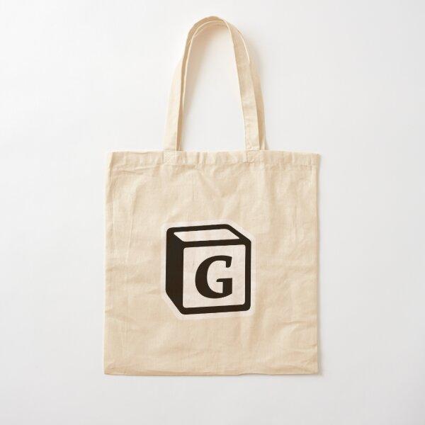 "Letter ""G"" Block Personalised Monogram Cotton Tote Bag"