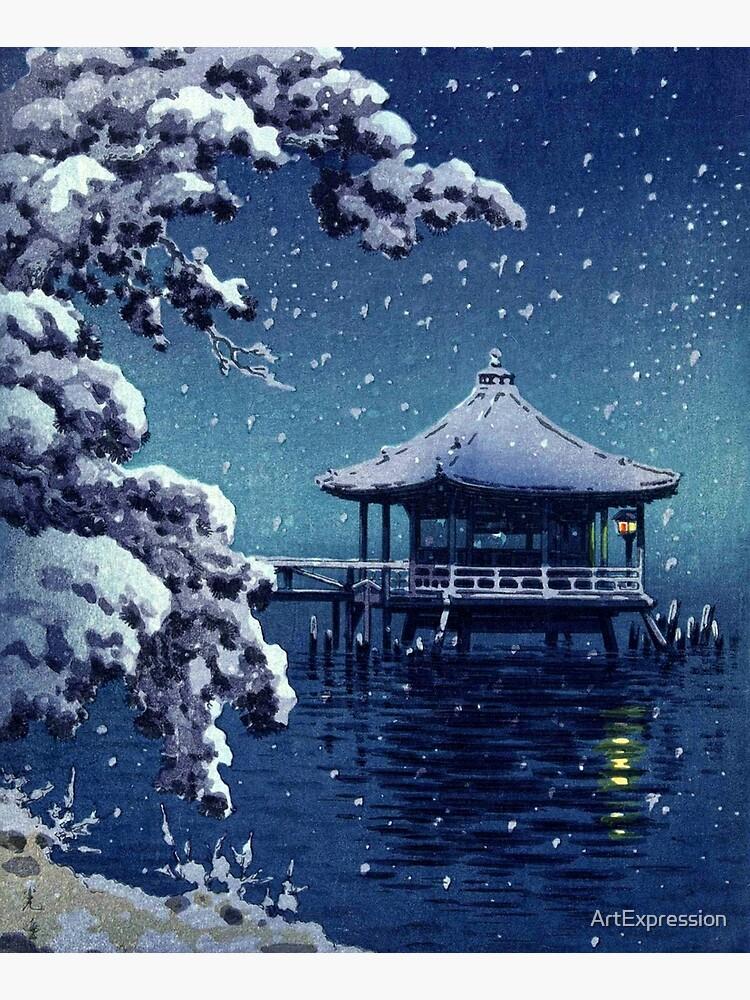 Tsuchiya Koitsu - Snow at the Ukimido, Katada by ArtExpression