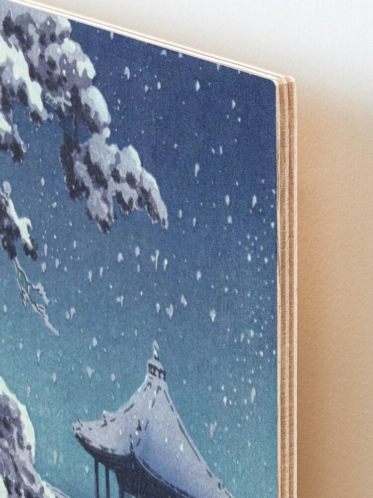 Alternate view of Tsuchiya Koitsu - Snow at the Ukimido, Katada Mounted Print