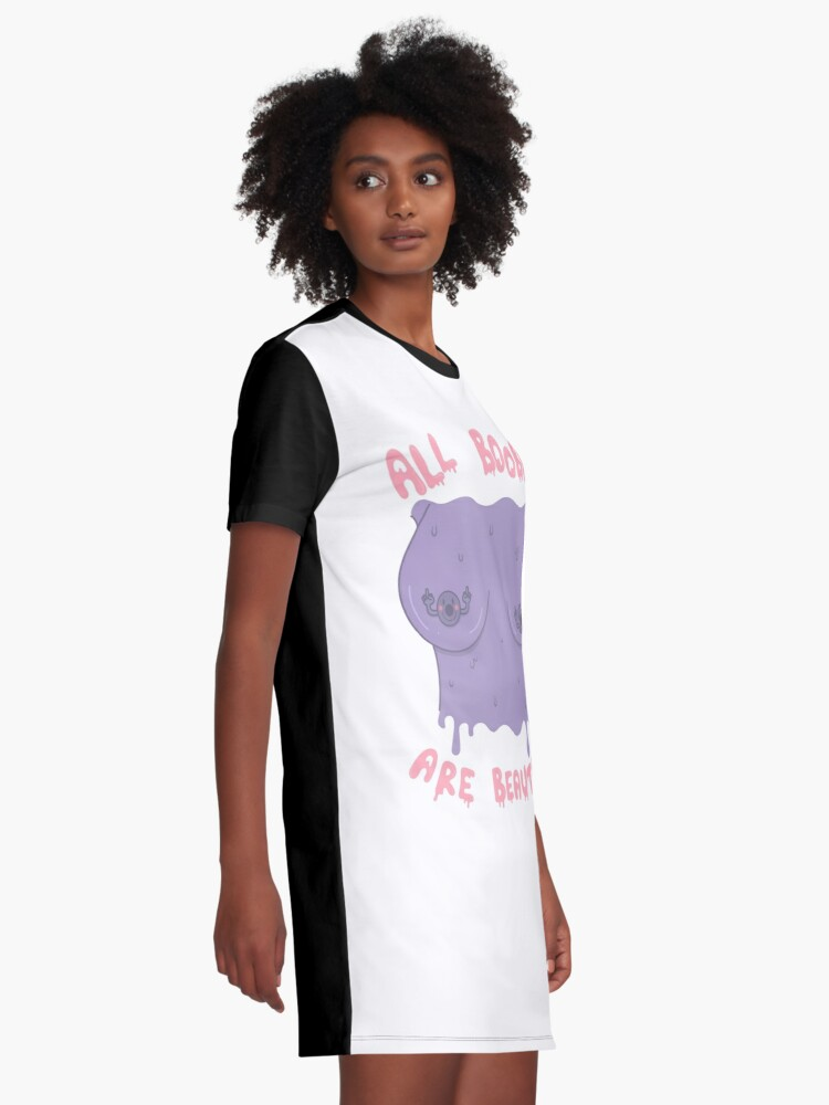 Alternate view of ALL BOOBIES ARE BEAUTIFUL Graphic T-Shirt Dress