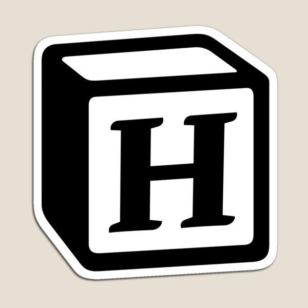 "Letter ""H"" Block Personalised Monogram Magnet"