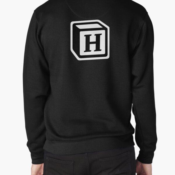 "Letter ""H"" Block Personalised Monogram Pullover Sweatshirt"