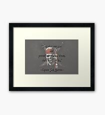 Jack Sparrow Quote Framed Print