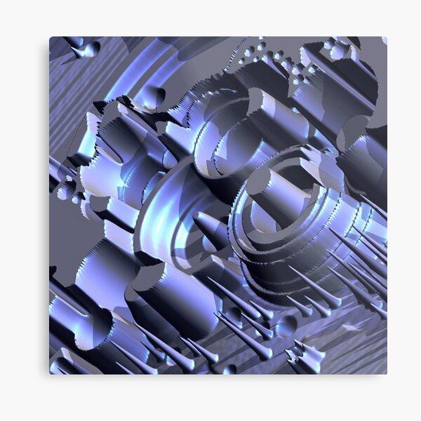 Macro Construct Metal Print