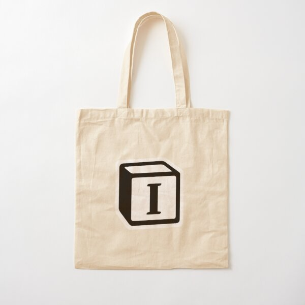 "Letter ""I"" Block Personalised Monogram Cotton Tote Bag"