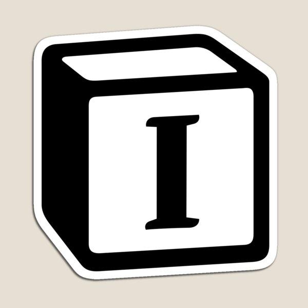 "Letter ""I"" Block Personalised Monogram Magnet"