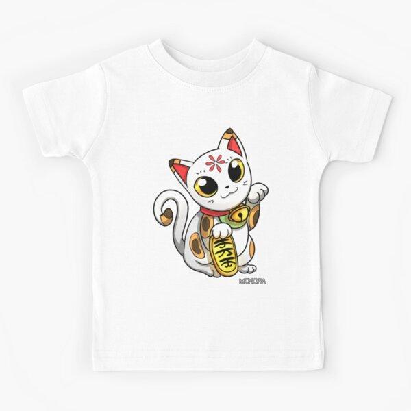 Maneki Neko -Chat de la Chance Japonais T-shirt enfant