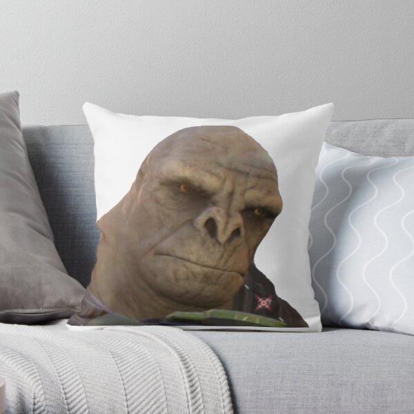 Craig halo brute meme Throw Pillow