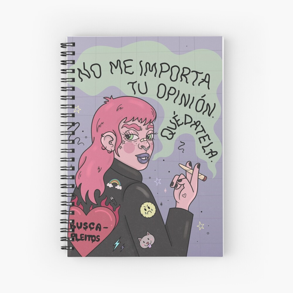 REBEL GRRRL Spiral Notebook