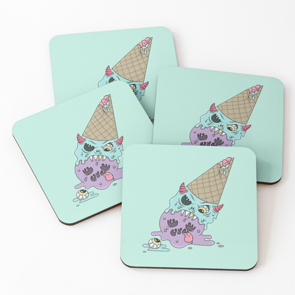 EVIL ICE-CREAM Coasters (Set of 4)