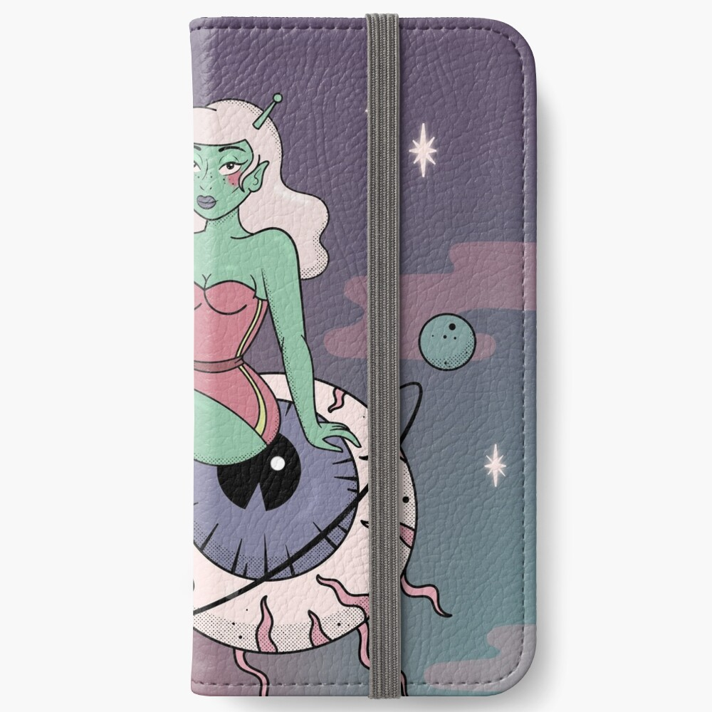 SPACE BABE - GALAXY iPhone Wallet