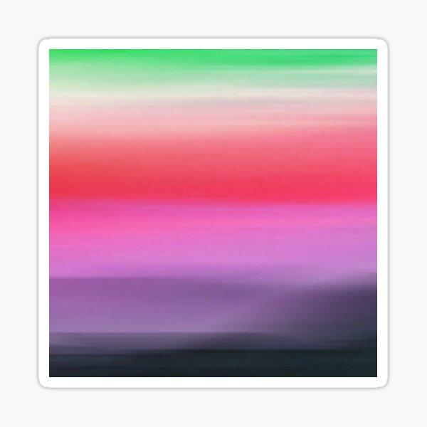 Green, White, Red, Pink, Violet, Black Gradient Sticker