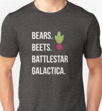 Bären. Rüben. Battlestar Galactica. - Das Büro Slim Fit T-Shirt