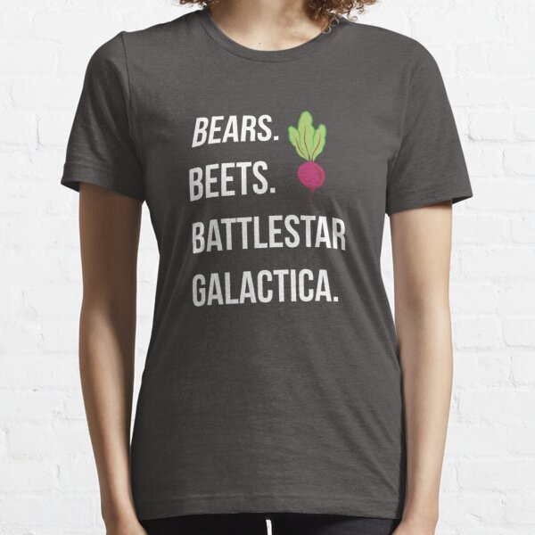 Bears. Beets. Battlestar Galactica. - The Office Essential T-Shirt
