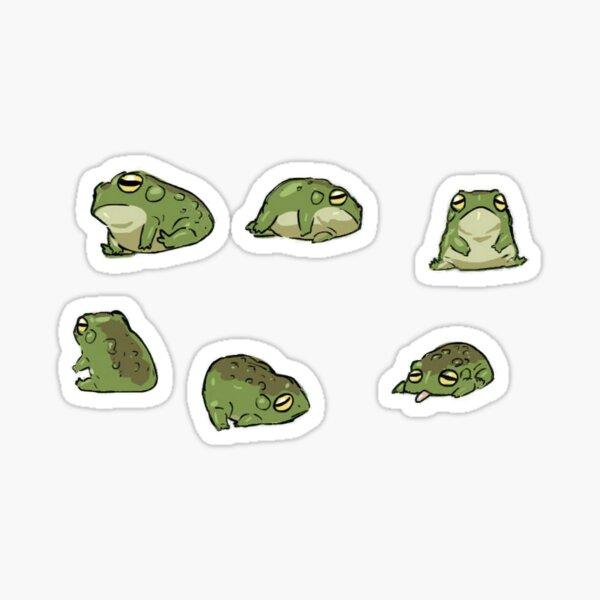 lindo paquete de ranas Pegatina