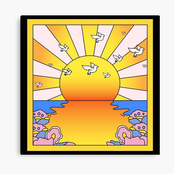 "LSD Blotter ""California Orange Sunshine"" Canvas Print"