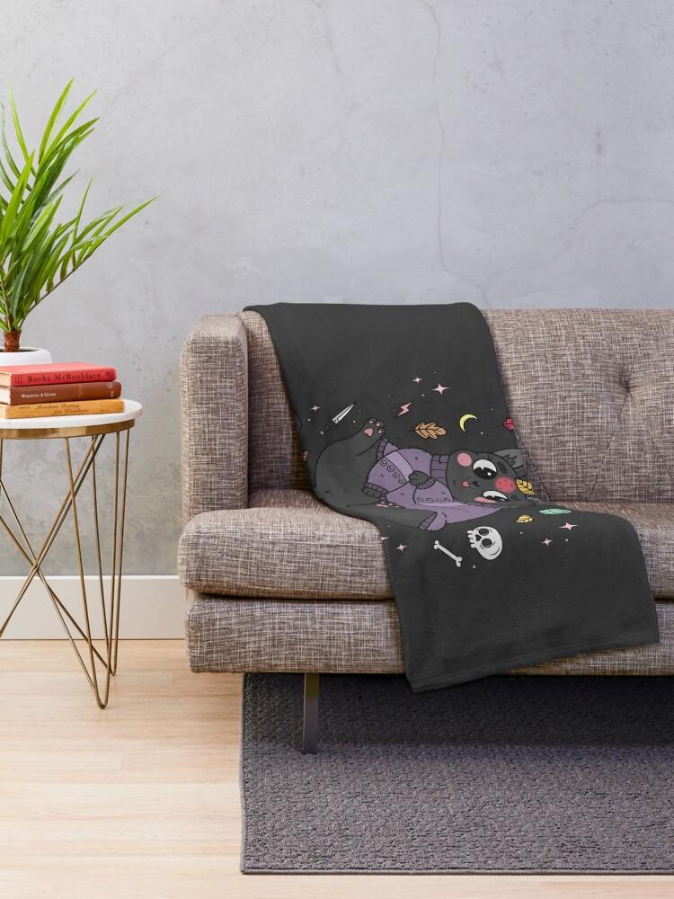 Alternate view of FALL KITTY Throw Blanket