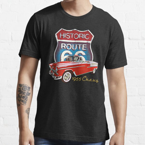 1955 Chevy Bel Air Vintage Retro Classic Car Street Hot Rod Antique Route 66 Design  Essential T-Shirt