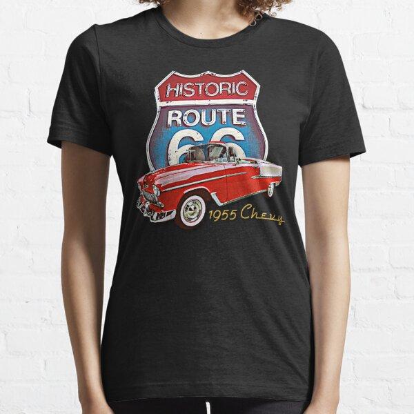 1955 Chevy Bel Air Vintage Retro Classic Car Street Hot Rod Antique Route 66 Design  Essential T-Shirt