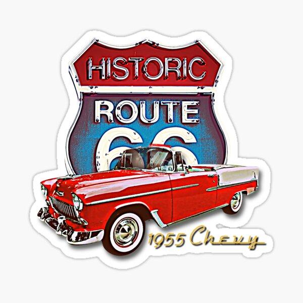 1955 Chevy Bel Air Vintage Retro Classic Car Street Hot Rod Antique Route 66 Design  Sticker