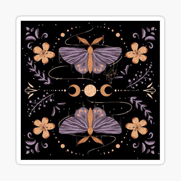 Night Moth Twins - Inktober 2020 Sticker