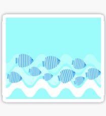 Kitschy Angel Fish Blue Sticker
