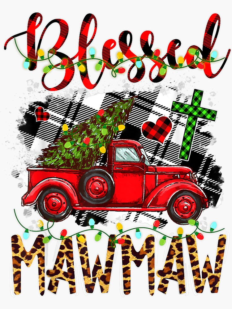 Red-Truck-Plaid-Xmas-Tree-Blessed-Mawmaw-Family-Christmas- by bstrpeq56