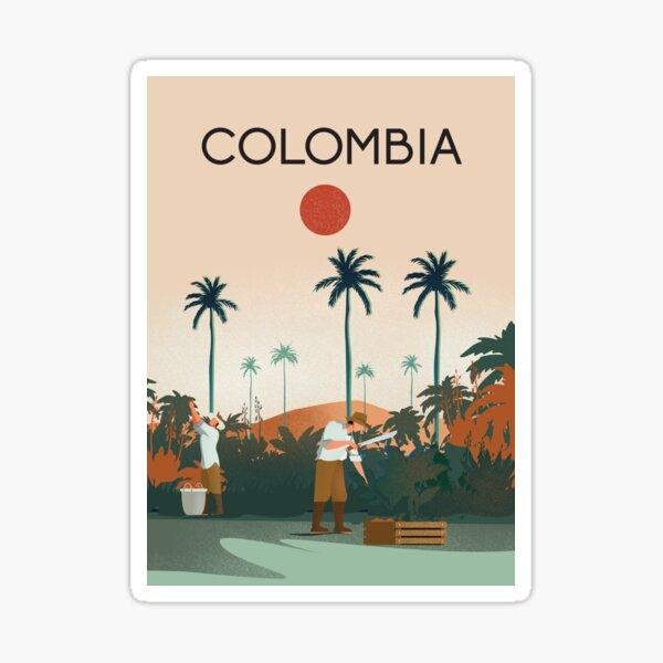 Cartel de viaje de colombia colombia Pegatina