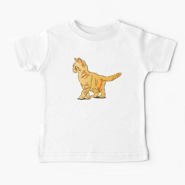 Orange Tabby Kitten Graphic Baby T-Shirt