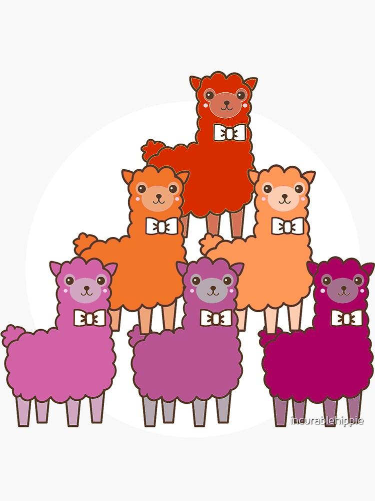Lesbian llamas cute LGBT by incurablehippie